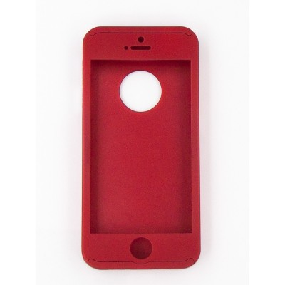 Чехол 360 для iPhone 5/5s/5c/se (red)