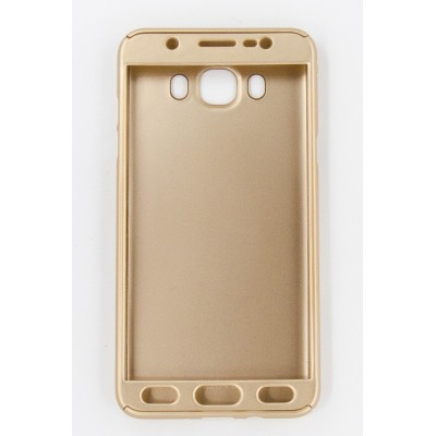 Чехол 360 для Samsung Galaxy J7 2016 (J710) (gold)