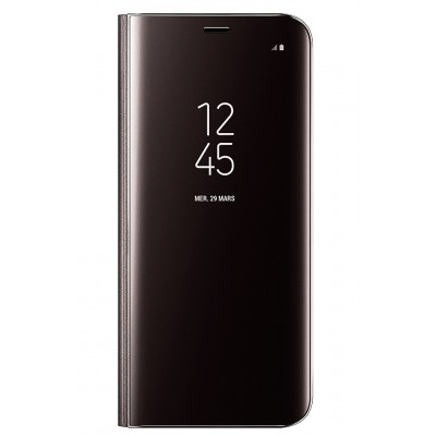 Чехол (Flipp-BOOK Clear View Standing Cover) для Samsung A8 2018 (A530) (black)