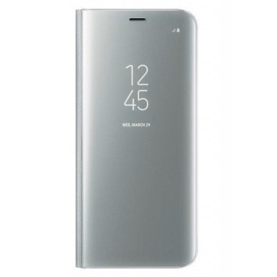 Чехол DENGOS (flipp-BOOK Clear View Standing Cover) для Samsung Galaxy S8 (silver)
