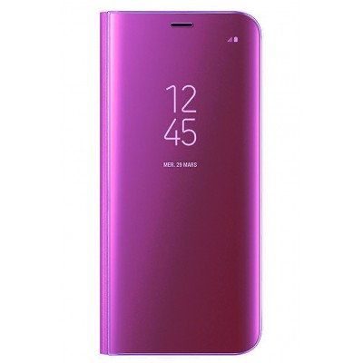 Чехол DENGOS (flipp-BOOK Clear View Standing Cover) для Samsung Galaxy S8 Plus (violet)
