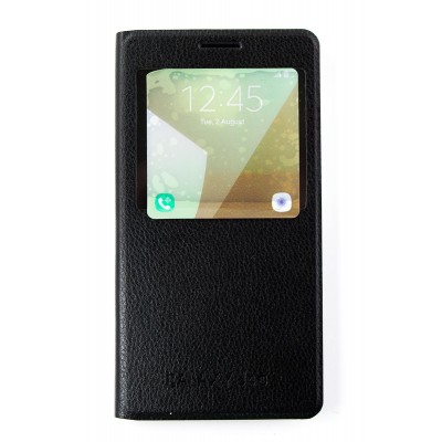 Чехол-Книжка FINE LINE (flipp-BOOK Call ID) Samsung Galaxy J4 2018 (J400) (black)