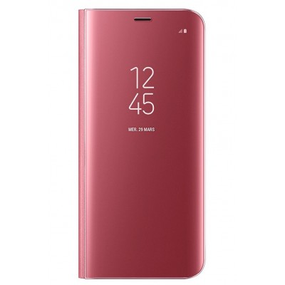 Чехол DENGOS (flipp-BOOK Clear View Standing Cover) для Samsung Galaxy А8 Plus 2018 (А730) (pink)